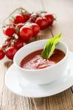 Frische Tomatesuppe Stockbild