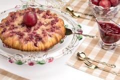Frische Torte mit Beeren Lizenzfreie Stockfotos