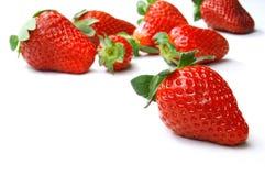 Frische und geschmackvolle Erdbeere Lizenzfreie Stockfotos