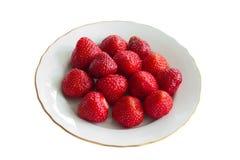 Frische und geschmackvolle Erdbeeren Stockfotos