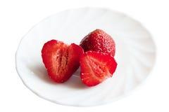 Frische und geschmackvolle Erdbeeren Lizenzfreies Stockfoto
