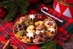 Frische und geschmackvolle Weihnachtsplätzchen stockfoto