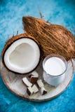 frische und gesunde Kokosmilch Lizenzfreie Stockfotografie