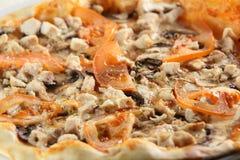 Frische und heiße Pizza Stockfotografie