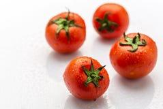 Frische und reife rote Tomaten Stockfotos