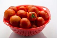 Frische und reife rote Tomaten Stockbild