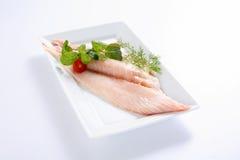 Frische ungekochte rote Fische Lizenzfreies Stockbild