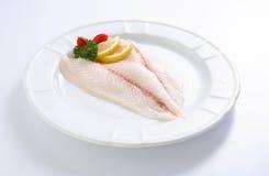 Frische ungekochte rote Fische Stockbild