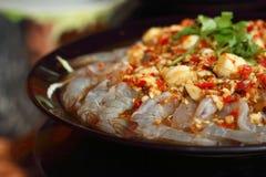 Frische würzige Kalkgarnele - Asien-Lebensmittel Lizenzfreie Stockfotografie