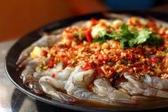 Frische würzige Kalkgarnele - Asien-Lebensmittel Stockfoto