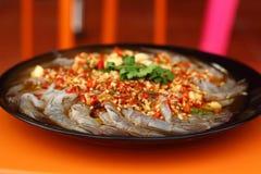 Frische würzige Kalkgarnele - Asien-Lebensmittel Stockfotos