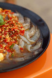 Frische würzige Kalkgarnele - Asien-Lebensmittel Stockbilder