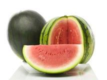 Frische Wassermelone getrennt auf weißem Hintergrund Stockfotografie