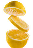 Frische Zitrone auf einem weißen Hintergrund Stockbild