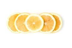 Frische Zitrone getrennt Lizenzfreie Stockfotos