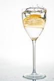 Frische Zitrone im Wasser Stockbilder