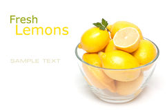 Frische Zitronen Lizenzfreies Stockbild