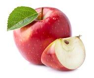 Frischer Apfel mit Scheibe Lizenzfreie Stockbilder