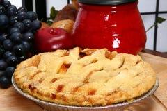 Frischer Apfelkuchen stockbilder
