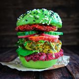 Frischer Avocadoburger mit Quinoa Lizenzfreie Stockbilder