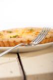 Frischer Birnentorten-Nachtischkuchen Stockfotos