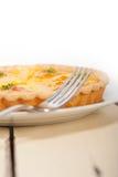 Frischer Birnentorten-Nachtischkuchen Stockbild