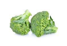 Frischer Brokkoli auf weißem Hintergrund Lizenzfreie Stockfotografie