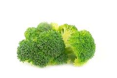 Frischer Brokkoli auf weißem Hintergrund Lizenzfreies Stockfoto