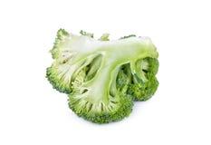 Frischer Brokkoli getrennt auf weißem Hintergrund Stockbild