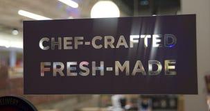 Frischer Chef Crafted Food und Sandwiche lizenzfreie stockfotografie