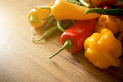 Frischer Chili Pepper Selection Lizenzfreie Stockfotos
