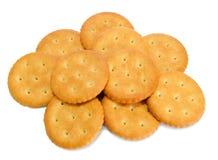 Frischer Cracker auf Weiß Stockfotografie