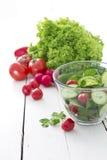 Frischer Gartensalat Stockfotos