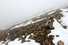 Frischer gefallener Schnee in Rocky Mountains Lizenzfreie Stockbilder