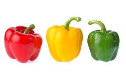 Frischer Gemüsepaprika lokalisiert auf weißem Hintergrund Stockfoto