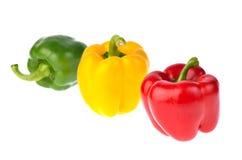 Frischer Gemüsepaprika lokalisiert auf weißem Hintergrund Lizenzfreies Stockbild