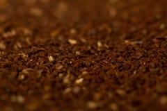 Frischer gemahlener Kaffee stockfoto