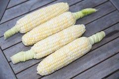 Frischer geschälter Mais Stockfotos