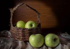 Frischer grüner Apfel. Lizenzfreies Stockfoto