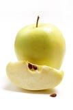 Frischer grüner Apfel der Scheibe Lizenzfreie Stockfotografie