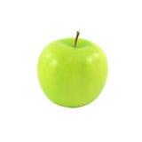 Frischer grüner Apfel getrennt auf Weiß Lizenzfreies Stockfoto