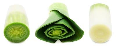 Frischer grüner Porree Stockbild