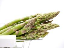 Frischer grüner Spargel - vegetarische Zartheit stockbild