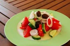 Frischer griechischer Salat Stockfotografie