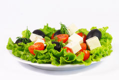 Frischer griechischer Salat Stockfotos