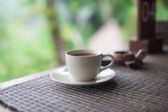 Frischer Kaffee auf einem Kaffeebauernhof in Bali Indonesien Stockbilder