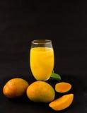 Frischer Mangofruchtsaft Lizenzfreie Stockbilder