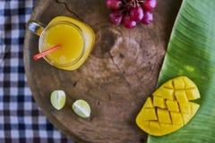 Frischer Mangofruchtsaft Stockbilder
