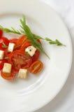 Frischer Mozarella Salat Stockfoto