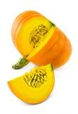 Frischer orange Kürbis Stockfotografie